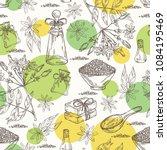 background with jasmine flower... | Shutterstock .eps vector #1084195469