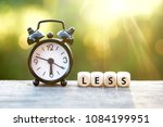 conceptual of time is less | Shutterstock . vector #1084199951