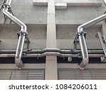 the steel pipe from cooling... | Shutterstock . vector #1084206011