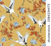 seamless pattern with japanese... | Shutterstock .eps vector #1084234475