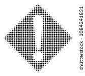 pixelated black warning icon....