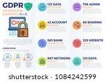 european gdpr  general data... | Shutterstock .eps vector #1084242599