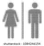 dot black toilet persons icon.... | Shutterstock .eps vector #1084246154