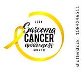vector sarcoma cancer awareness ... | Shutterstock .eps vector #1084246511