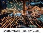machine spot nut at automotive...   Shutterstock . vector #1084249631