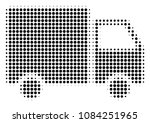 pixelated black shipment van... | Shutterstock .eps vector #1084251965