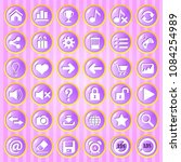 gui button purple circle with...