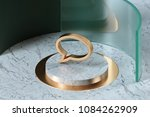 golden comment icon on the... | Shutterstock . vector #1084262909