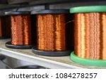 row of copper wire coils... | Shutterstock . vector #1084278257