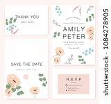 elegant wedding invitation card ... | Shutterstock .eps vector #1084278905