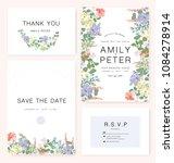 elegant wedding invitation card ... | Shutterstock .eps vector #1084278914