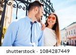 couple in love. loving couple... | Shutterstock . vector #1084287449