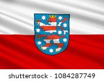 flag of free state of thuringia ... | Shutterstock . vector #1084287749