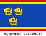 flag of nordfriesland is the... | Shutterstock . vector #1084288769