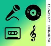 vector icon set about music... | Shutterstock .eps vector #1084296431