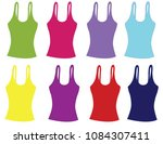 woman shirt without sleeves | Shutterstock .eps vector #1084307411