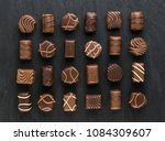 beautiful creative chocolate...   Shutterstock . vector #1084309607
