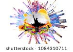 abstract illustration with... | Shutterstock . vector #1084310711