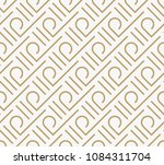 geometric seamless pattern with ... | Shutterstock .eps vector #1084311704