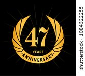 47 years anniversary. elegant... | Shutterstock .eps vector #1084322255