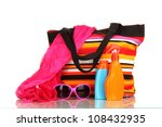 beach bag with accessories... | Shutterstock . vector #108432935