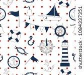 Seamless Pattern Marine And...