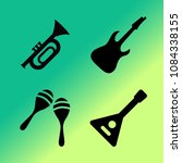 vector icon set about music... | Shutterstock .eps vector #1084338155
