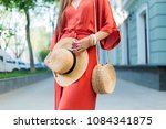 fashion details.  woman in... | Shutterstock . vector #1084341875
