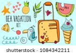 summer vacation vector hand... | Shutterstock .eps vector #1084342211