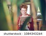 portrait of an attractive... | Shutterstock . vector #1084343264