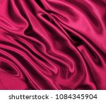smooth elegant pink silk or... | Shutterstock . vector #1084345904