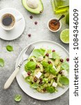 avocado salad with olive oil ... | Shutterstock . vector #1084346009