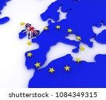 3d render of eu referendum | Shutterstock . vector #1084349315