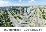 aerial city view with... | Shutterstock . vector #1084353359