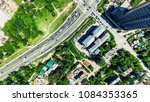 aerial city view with... | Shutterstock . vector #1084353365