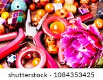 beads  colorful beads for... | Shutterstock . vector #1084353425