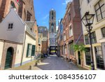 Utrecht streets and Dom tower, Netherlands