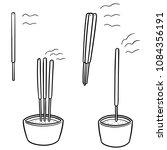 vector set of incense stick | Shutterstock .eps vector #1084356191