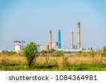 factory chimneys   industrial... | Shutterstock . vector #1084364981