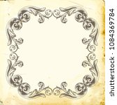 retro baroque decorations...   Shutterstock .eps vector #1084369784