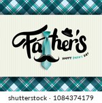 happy father s day calligraphy... | Shutterstock .eps vector #1084374179