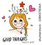 good thoughts need to grow  ... | Shutterstock .eps vector #1084378364