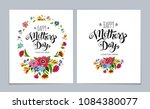 template happy mother's day... | Shutterstock .eps vector #1084380077