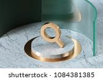 golden search minus icon on the ... | Shutterstock . vector #1084381385