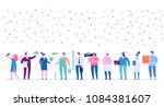 labor day. poster with people... | Shutterstock .eps vector #1084381607