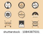 vintage retro vector logo for... | Shutterstock .eps vector #1084387031