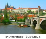 View On River And Castle In...