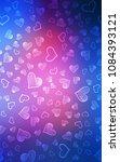 light blue  red vertical cover... | Shutterstock . vector #1084393121