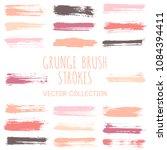 grunge paint brush stroke... | Shutterstock .eps vector #1084394411