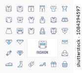 clothes and other wearable...   Shutterstock .eps vector #1084394597